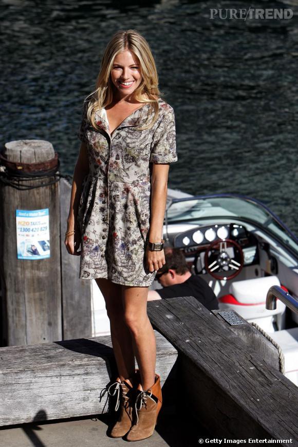 Les bottines à lacets de la marque  Chloé  sont un véritable hit de la rentrée. Vues principalement sur Sienna Miller, elles complètent idéalement une tenue bohème et citadine.