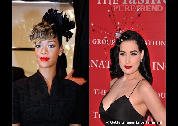 Lequel des deux bibis préférez-vous : celui de Rihanna ou de Dita Von Teese ?