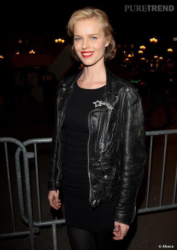 Eva Herzigova lors de l'after-show Etam à l'hotel d'Evreux