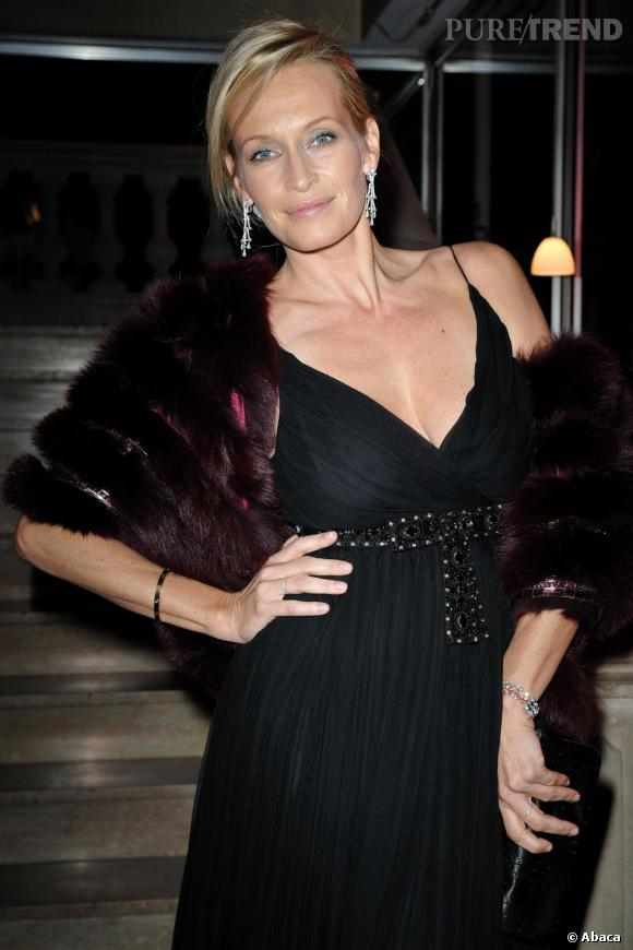 Estelle Lefébure lors du Dîner de la Mode à Paris