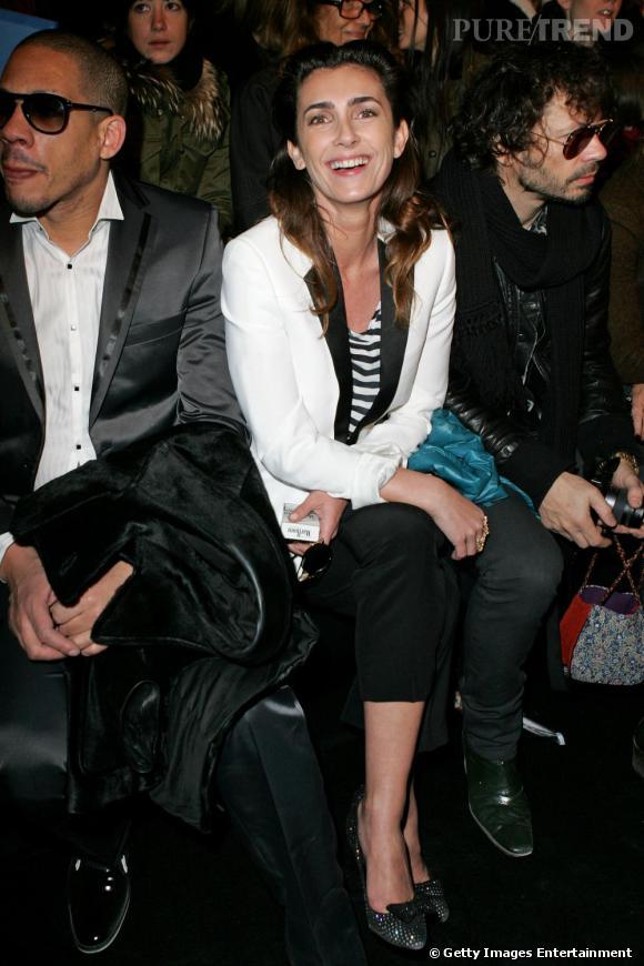 Joey Star, Mademoiselle Agnès et Olivier Zahm au défilé Karl Lagerfeld