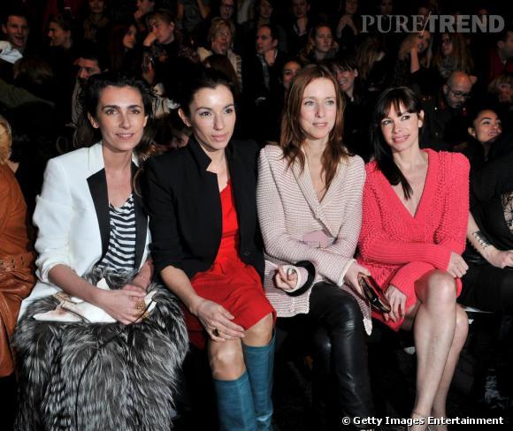 Mademoiselle Agnès, Aure Atika et Léa Drucker au défilé Sonia Rykiel