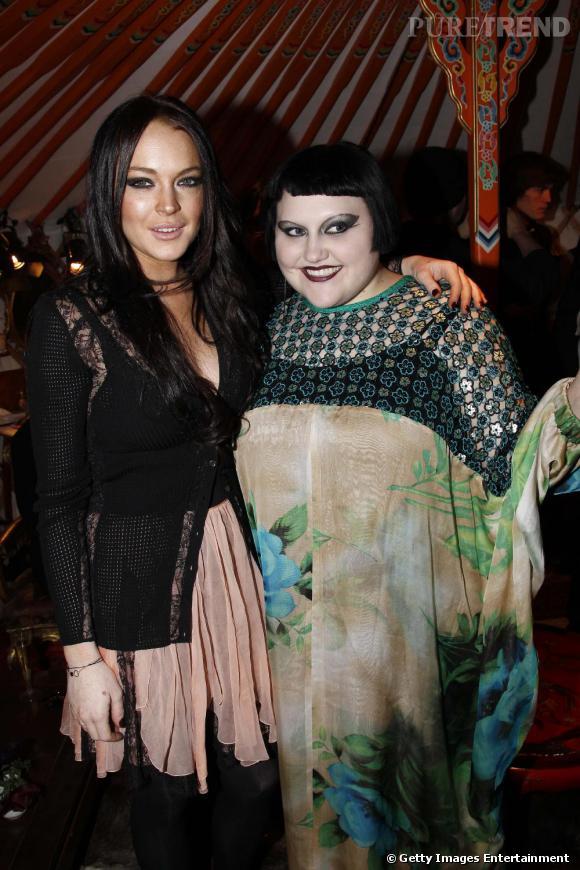 Lindsay Lohan et Beth Ditto au défilé John Galliano