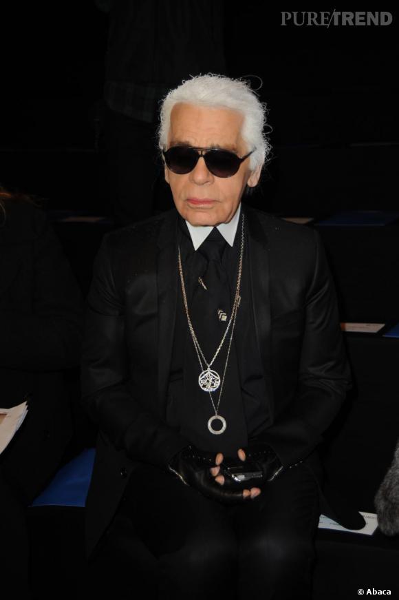 Karl Lagerfeld au défilé Karl Lagerfeld