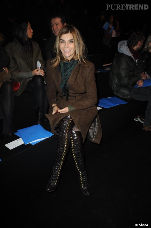 Carine Roitfeld au défilé Karl Lagerfeld