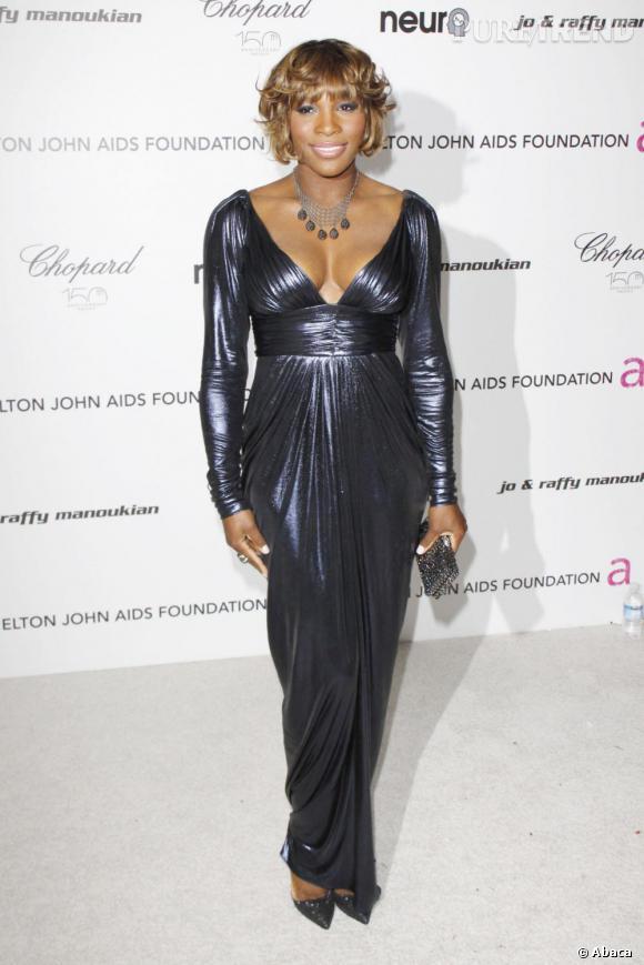Serena Williams lors du gala contre le sida d'Elton John