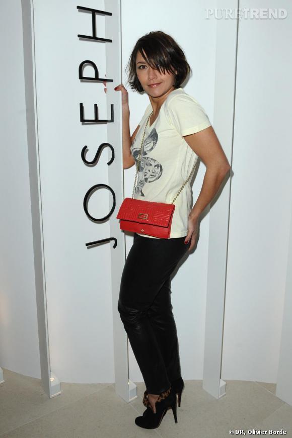 Emma de Caunes lors de la réouverture de la boutique Joseph Avenue Montaigne