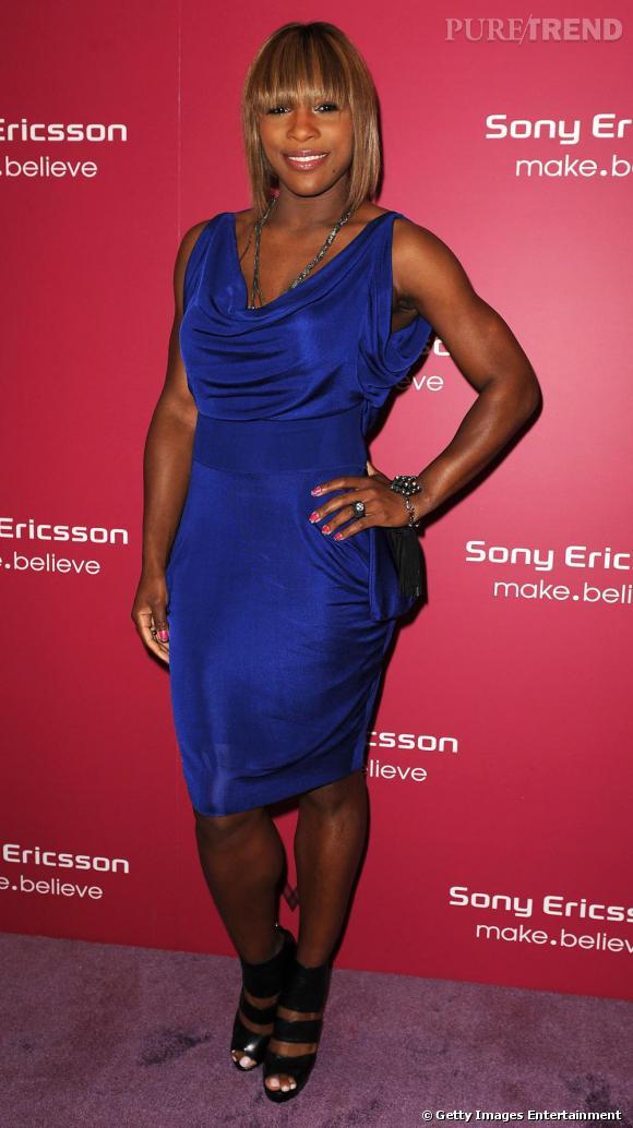 Serena Williams lors de la soirée Sony Ericsson à Miami