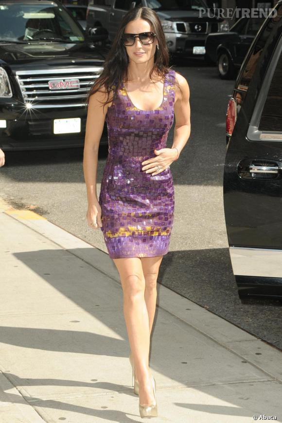 Demi Moore devant les studios du David Letterman Show