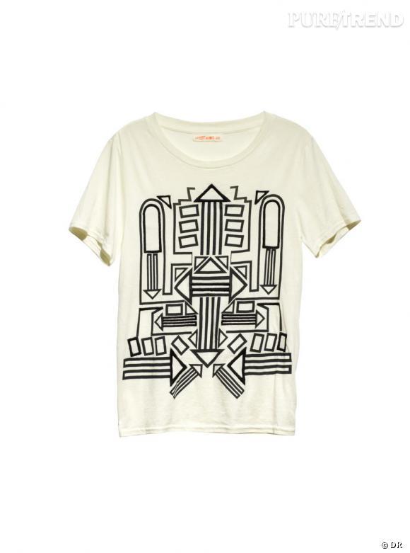 Un tee-shirt d'homme    Une festivalière, une vraie, pique le tee-shirt de son mec. C'est une question de principe.    Prix :  9.95€