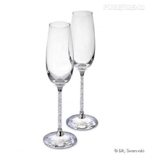 """Les flûtes à champagne """"Crystalline"""" apparaissent dans Sex and the City 2.   Prix:  320 € (set de 2)"""