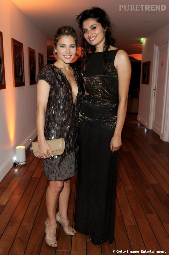 Elsa Pataki et Gabriella Wright toutes 2 vêtues de robes Gucci de la  collection automne,hiver 2010/2011 pour la soirée Gucci / Vanity Fair en  l\u0027honneur de