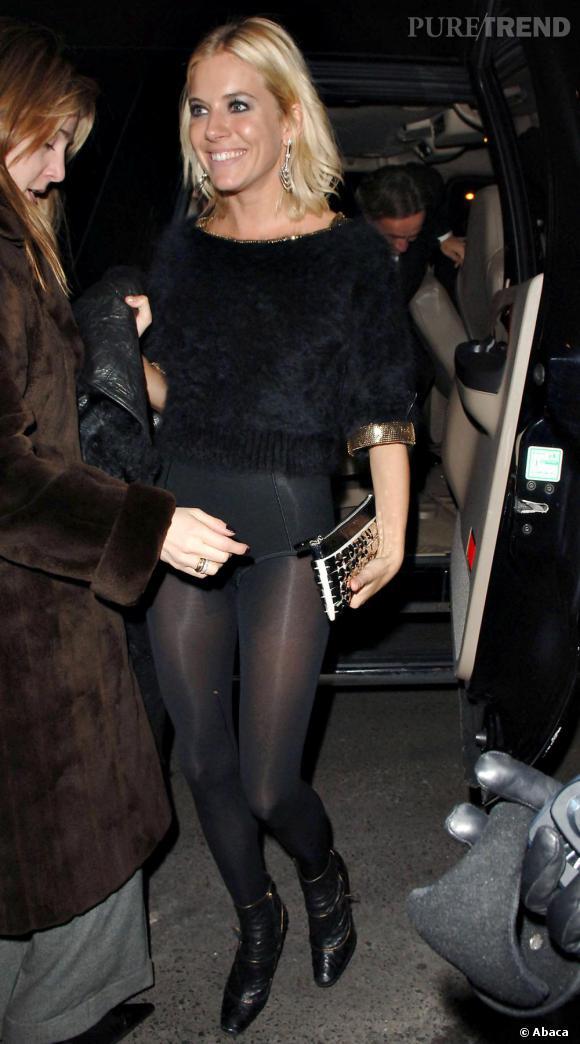 Sienna Miller délaisse la jupe ! Un look plutôt culotté...