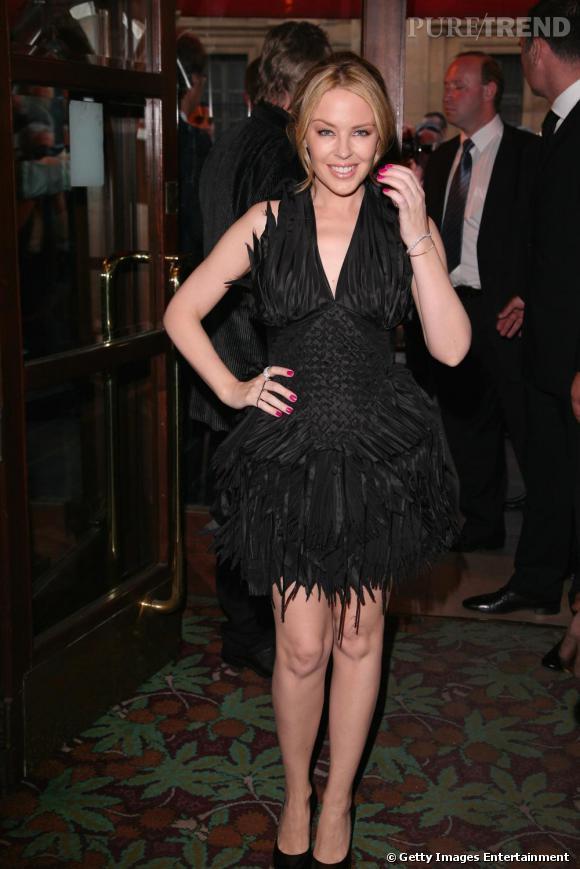 Kylie Minogue au gala de l'amfAR, vendredi soir chez Maxim's.