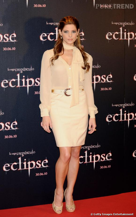 Ashley Greene au photocall de Madrid.