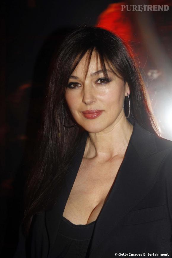 Monica Bellucci à la soirée de lancement du nouveau Rouge Dior.