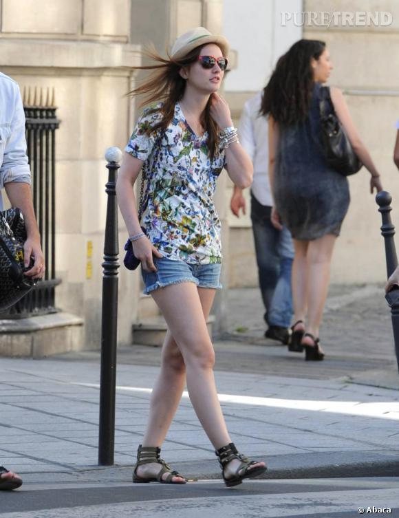 Leighton Meester, un look estival à Paris.