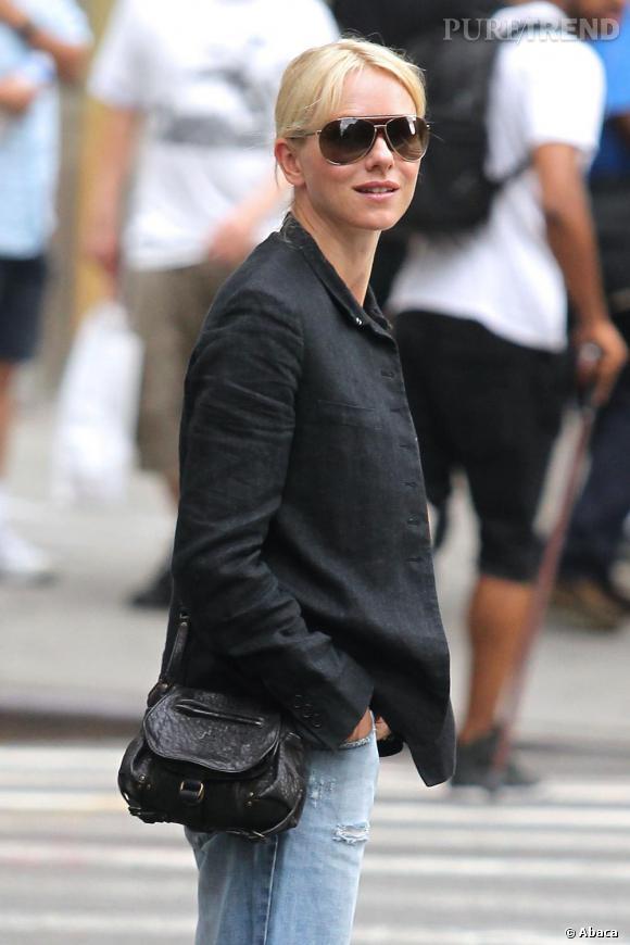 Naomi Watts dans les rues de New-York.