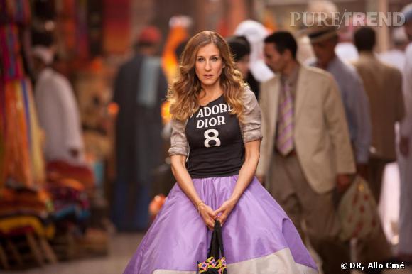 Pour le film Sex and The City 2, Sarah Jessica sort le grand jeu et clame haut et gras son amour pour Dior.