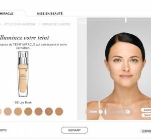 Le widget de Lancôme : la beauté 2.0