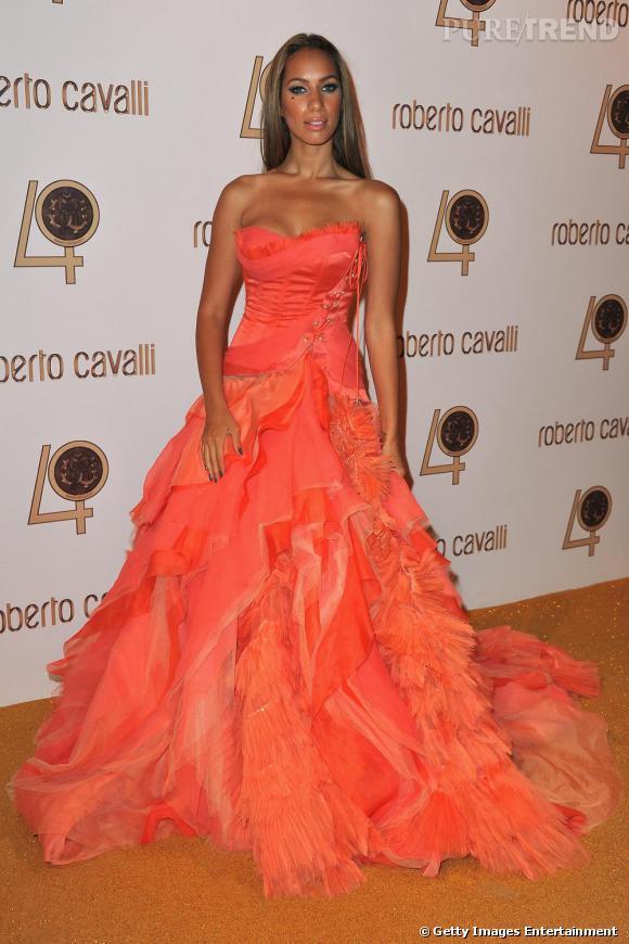 Leona Lewis à la soirée des 40 ans de Roberto Cavalli.