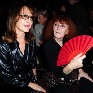 Nathalie Baye et Sonia Rykiel au défilé Sonia Rykiel.