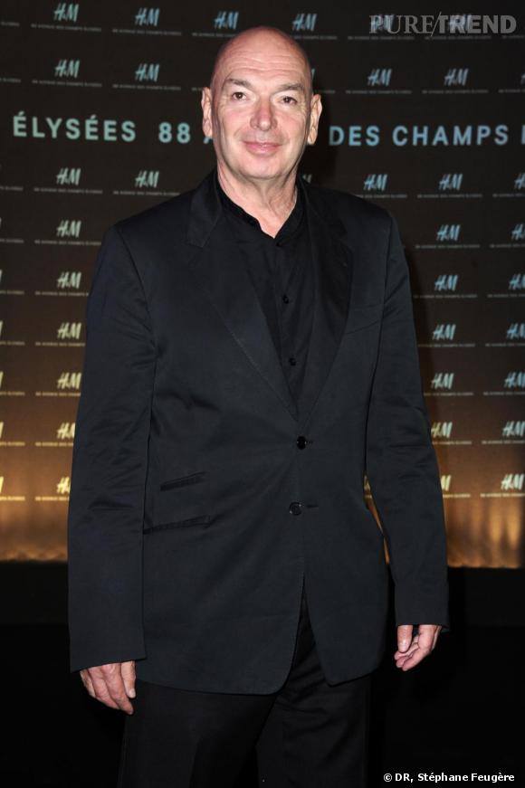 Jean Nouvel inaugure le nouvel H&M des Champs-Elysées à Paris.