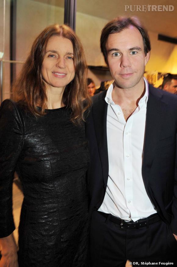 Karla Otto et Karl-Johan Persson inaugurent le nouvel H&M des Champs-Elysées à Paris.