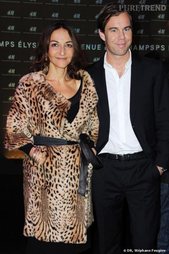Nathalie Rykiel et Karl-Johan Persson inaugurent le nouvel H&M des Champs-Elysées à Paris.