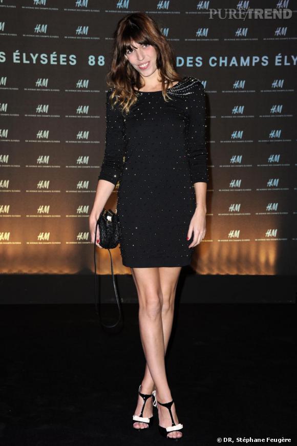 Lou Doillon à l'inauguration du nouvel H&M des Champs-Elysées à Paris.