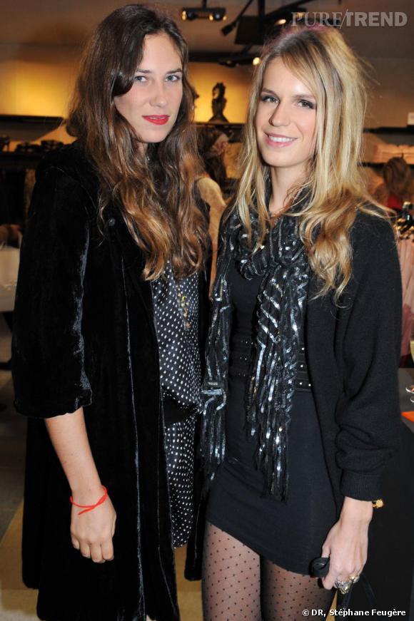 Tatiana Santo Domingo et Eugenie Niarchos inaugurent le nouvel H&M des Champs-Elysées à Paris.