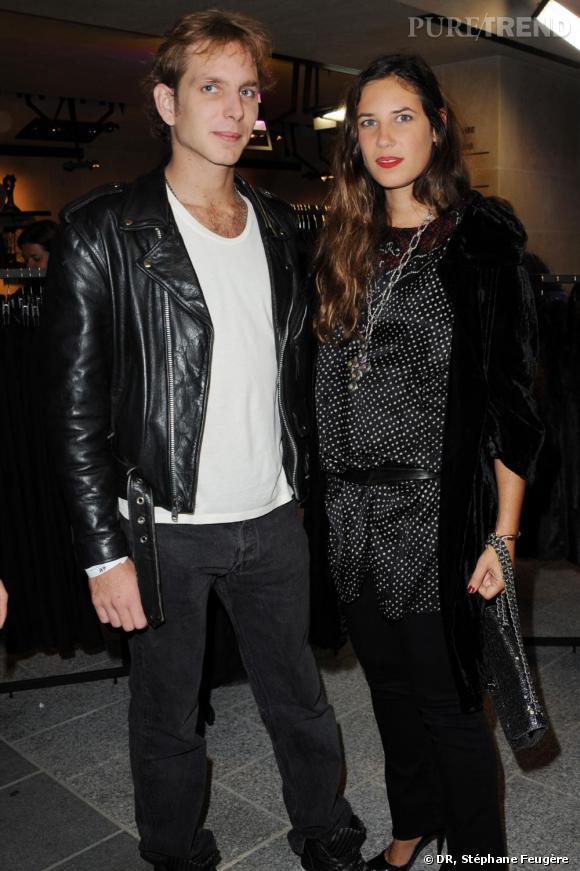 Andrea Casiraghi et Tatiana Santo Domingo inaugurent le nouvel H&M des Champs-Elysées à Paris.