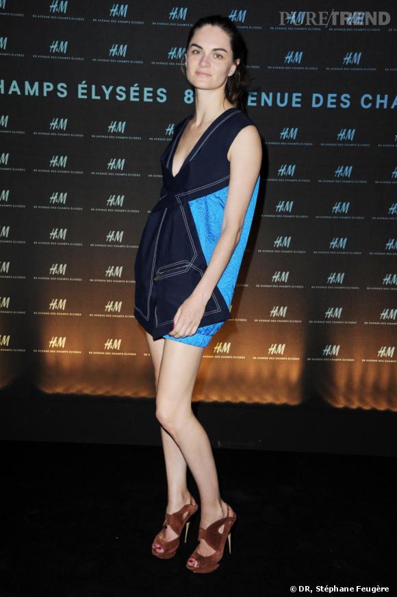 Anouck Lepere inaugure le nouvel H&M des Champs-Elysées à Paris.