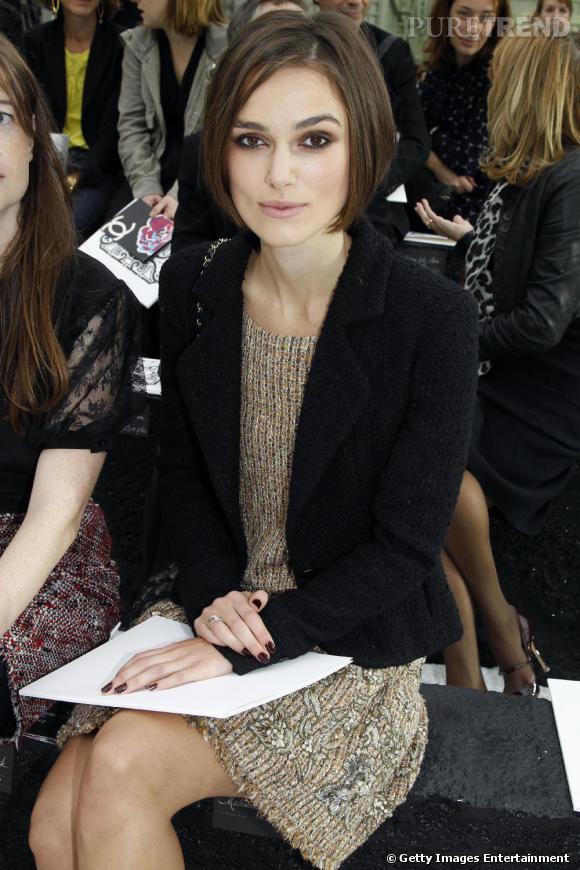 La jolie Keira Knightley, prête pour le défilé Chanel.