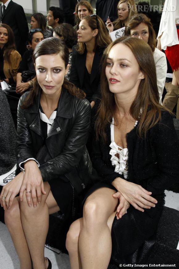 Anna Mouglalis et Vanessa Paradis au défilé Chanel.