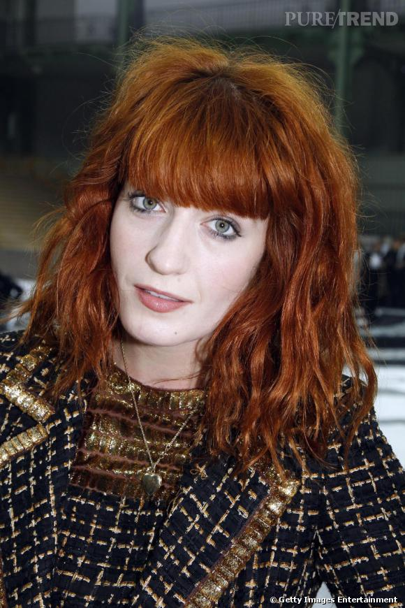 Florence Welch de Florence&the Machine, chez Chanel.