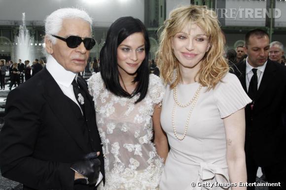 Karl Lagerfeld, Leigh Lezark, Courtney Love.