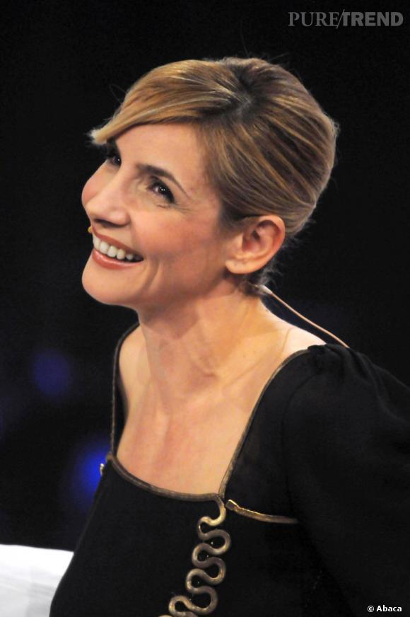 Clotilde Courau au Late Night Show de Chiambretti à Milan.
