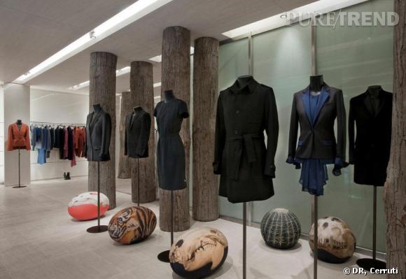 Réouverture de la boutique Cerruti à Paris.