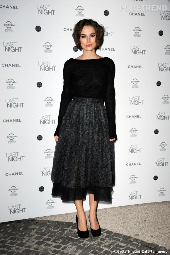 Keira Knightley au dîner en l'honneur de Last Night lors du Festival International du Film de Rome.