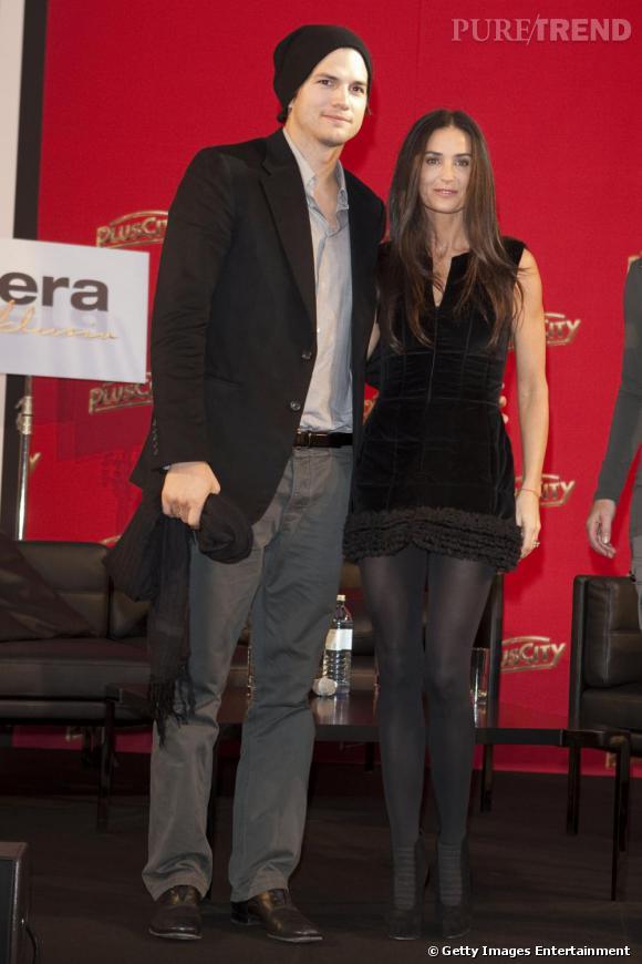 Demi Moore et Ashton Kutcher à la conférence de presse de DNA à Linz, Autriche.