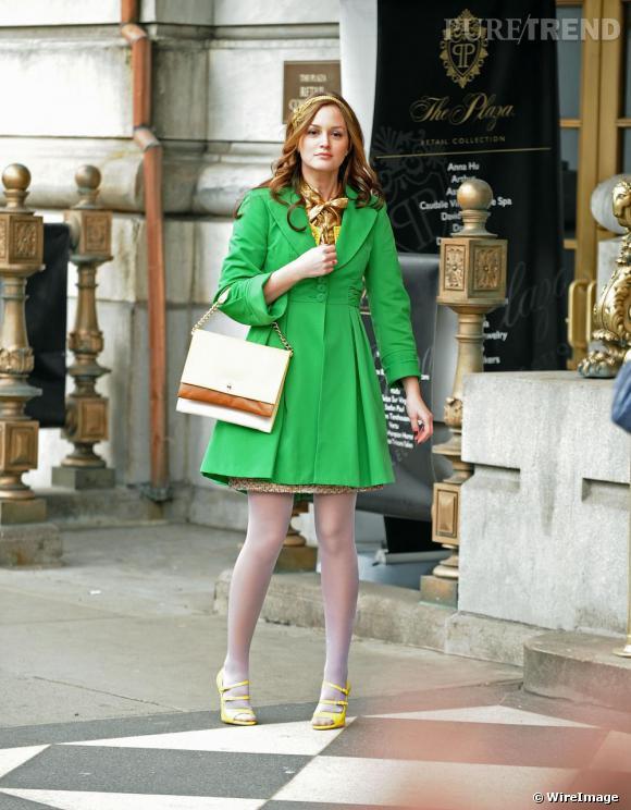 Leighton Meester alias Blair Waldorf.