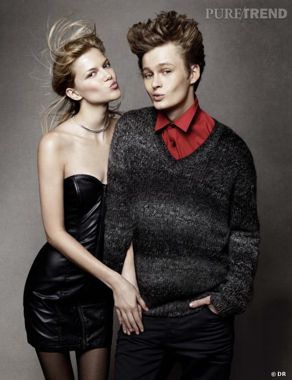 Kasia Struss et Dylan Forsberg pour H&M.