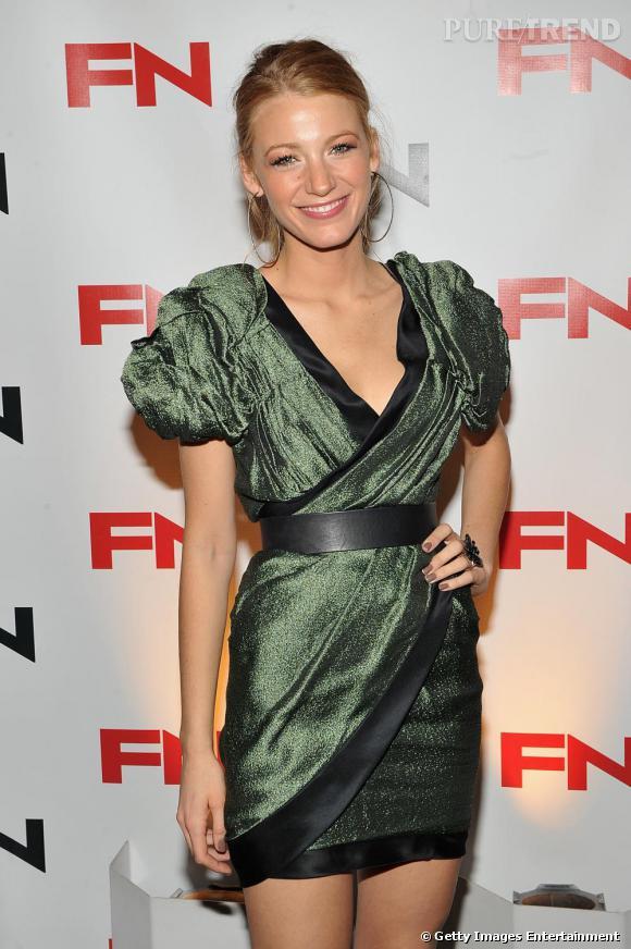 "Blake Lively aux 24èmes ""Annual Footwear News Achievement Awards"" à New York."