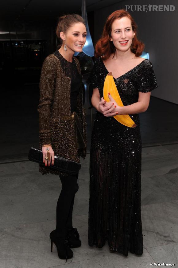 """Olivia et Charlotte Dellal, créatrice de la marque Charlotte Olympia qui a remporté le prix de """"Talent émergent""""."""