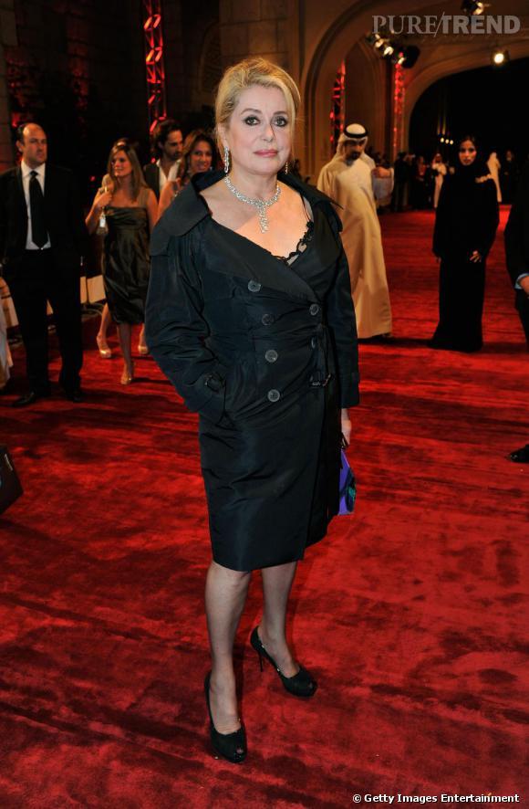 Catherine Deneuve à la projection de Cairo Exit pendant le Festival du Film de Dubaï.