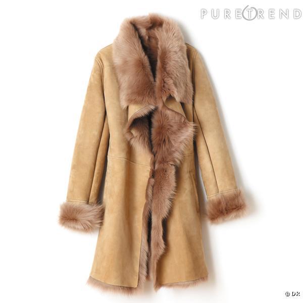 manteau briefing un manteau en peau et fourrure pour satisfaire son c t animal et bcbg pri. Black Bedroom Furniture Sets. Home Design Ideas