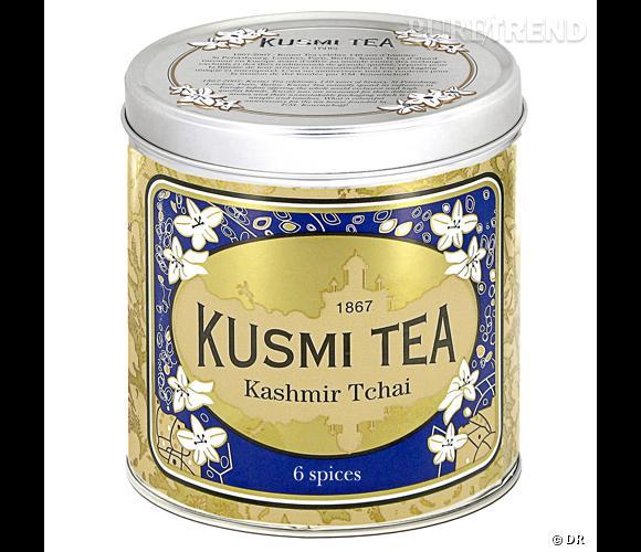 Thé Kashmir Tchai, Kusmi Tea       Du thé noir aux six épices qui lui rappelra son voyage initiatique à Benarès.    Prix : 17.90€ la boîte de 250g      En vente sur  www.kusmitea.com