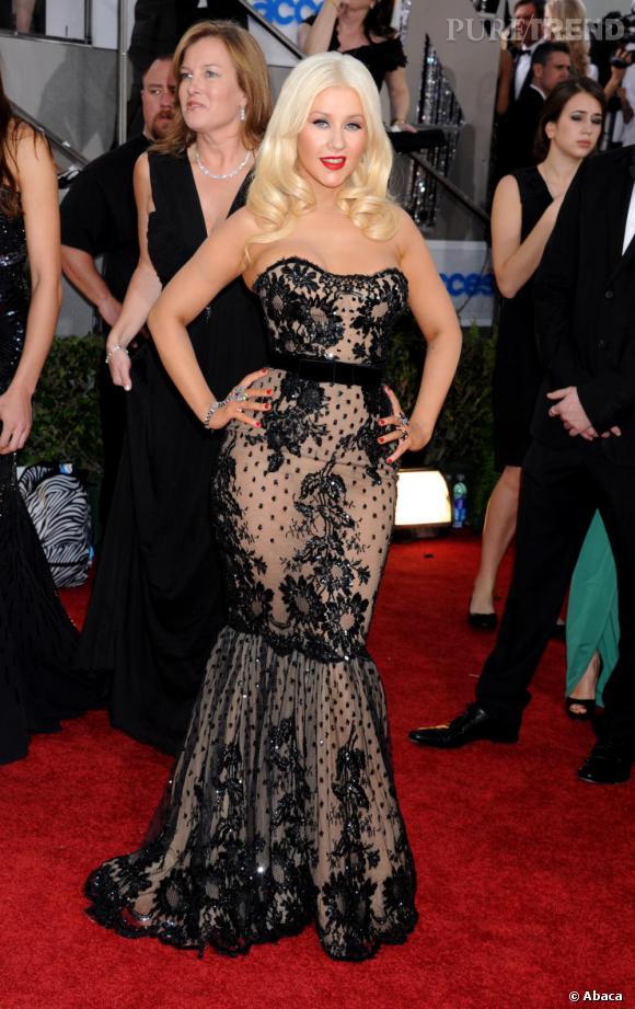 Christina Aguilera, allure de sirène.