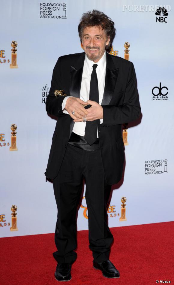 Al Pacino, le parrain, était aussi aux Golden Globes.